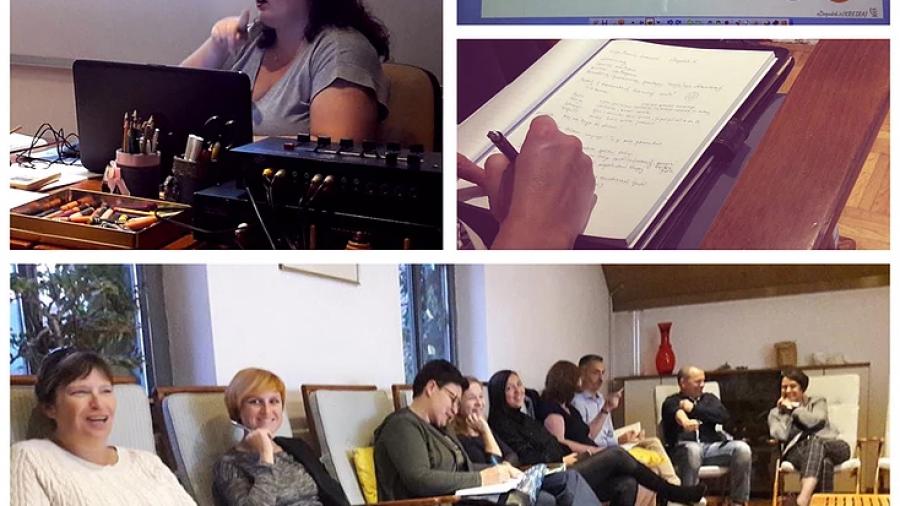 Marija Maruša Jovanović na oktobrskem srečanju članov Društva za razvoj coachev